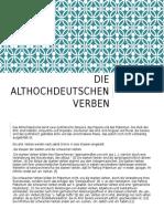 Die Althochdeutschen Verben