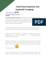 Kumpulan Kata Kata Inspirasi dan Kata Kata Inspiratif Lengkap Terbaru 2016.docx