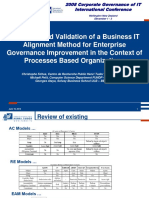 CGIT 2008 _ Definition and Validation of a Business IT Alignment Method for Enterprise Governance Improvement in the Context of Processes Based Organizations _ Wellington