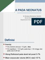 Anemia Neonatus PBPK