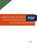 Análise da  Rede de Estabelecimentos  do Ensino Particular e Cooperativo  com contrato de associação