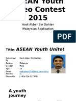 ASEAN Youth Video Contest 2015- Hadi (Malaysia)