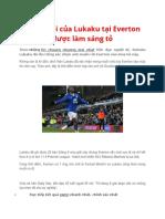 Tương Lai Của Lukaku Tại Everton Được Làm Sáng Tỏ