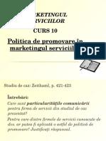 Politica de Promovare in Domeniul Serviciilor
