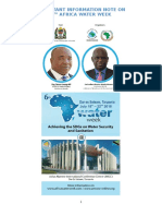 Important Information Note on 6th Africa Water Week