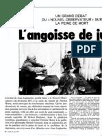 Foucault Badinter Laplanche Peine-De-mort