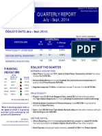 Quarterly-Report July Sept