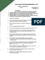 Gulf Sahodaya Chemistry Question paper