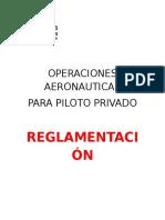 reglamentacion aerea