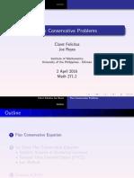 Flux Conservative Problem