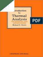 Thermal Analysis Pdf