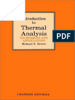 1988 - Introduction to thermal analysis, Techniques and applications. (Michael E. Brown).pdf