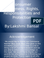 Consumer Awareness, Rights, Responsibilities and Protection