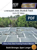 SCAFCO Heavy Duty Steel Framing Product Manual Technical Notes B27532