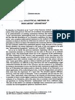 Israel Giorgio - The Analytical Method in Descartes' Geometrie
