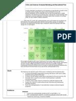 graduate marketing and recruitment plan