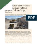 Ya No Considera Viable El Proyecto Minas Conga