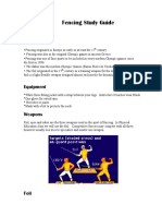Fencing Study Guide