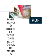 Situacion Economica de Mexico