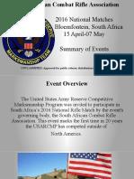 SACRA 2016 Overview