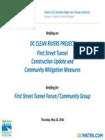 DC Water 1st Street Tunnel Forum Presentation 2016 05 26