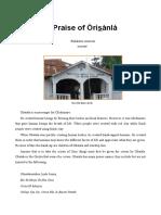Praise of Orisanla
