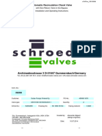 SCHROEDER Automatic Recirculation Check Valve