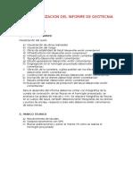Parametros para un informe