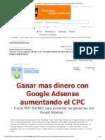 Como Ganar Dinero Con Google Adsense Aumentando El CPC (TUTORIAL PASO POR PASO)