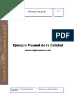 Ejemplo Manual de La Calidad Cas Proyectos.330114844