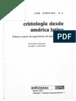 Sobrino Jon- Cristogia Desde America Latina