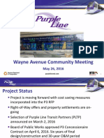 MTA Presentation Wayne Avenue Community Meeting in Silver Spring