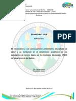 SEMINARIO El Tabaquismo y sus consecuencias educativas, de salud y medioambiente