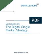 DIGITALEUROPE Comments - Digital Single Market Strategy