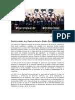 Carta de la Coalición de organizaciones por los Derechos Humanos en las Américas ante grave crisis financiera que atraviesa la CIDH