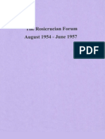 Rosicrucian Forum, August 1954-June 1957