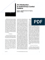 An Introduction to Autonomous Control Systems