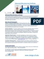 Brochure-Advanced Manufacturing Certificate