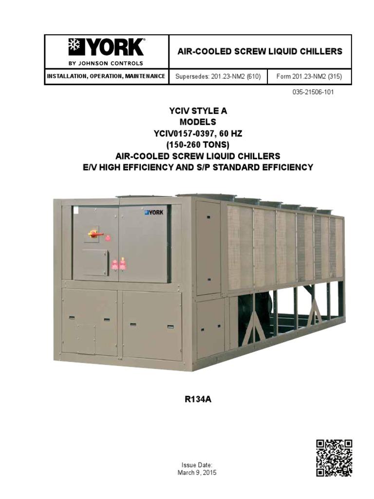 be yciv res maintenanceguide 60hz electricity electric power rh es scribd com York Chiller Troubleshooting Guide York Chiller Literature