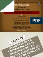 TEMA COMPORTAMIENTO DE LA CARPETA ASFÁLTICA DEBIDO A LA INFLUENCIA DE LA TEMPERATURA
