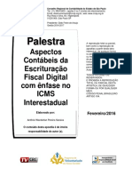 Apostila - Aspectos Contabeis Da Escrituração Fiscal Digital Com Enfase No Icms Interestadual