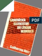 Gramatica Elementar da Língua Hebraica - Guilherme Kerr.epub