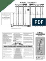 NFTA Timetable
