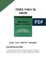 Razones Para El Amor - Jose Luis Martin Descalzo