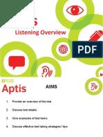 Aptis Listening Overview
