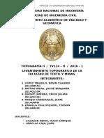 Informe n3 Topografía II