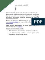 Determinante de Una Matriz de Orden 3x3