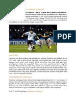 Prediksi Laga Argentina vs Honduras 28 Mei 2016