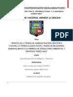 INFORME_2_aportes de La Teoria Clásica ( Fayol) , Teoria de Relaciones Humanas ( Mayo) , y La Teoría de Administración Científica ( Taylor )