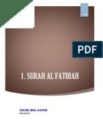 Kitab 001 Tafsir Surah Al Fatihah